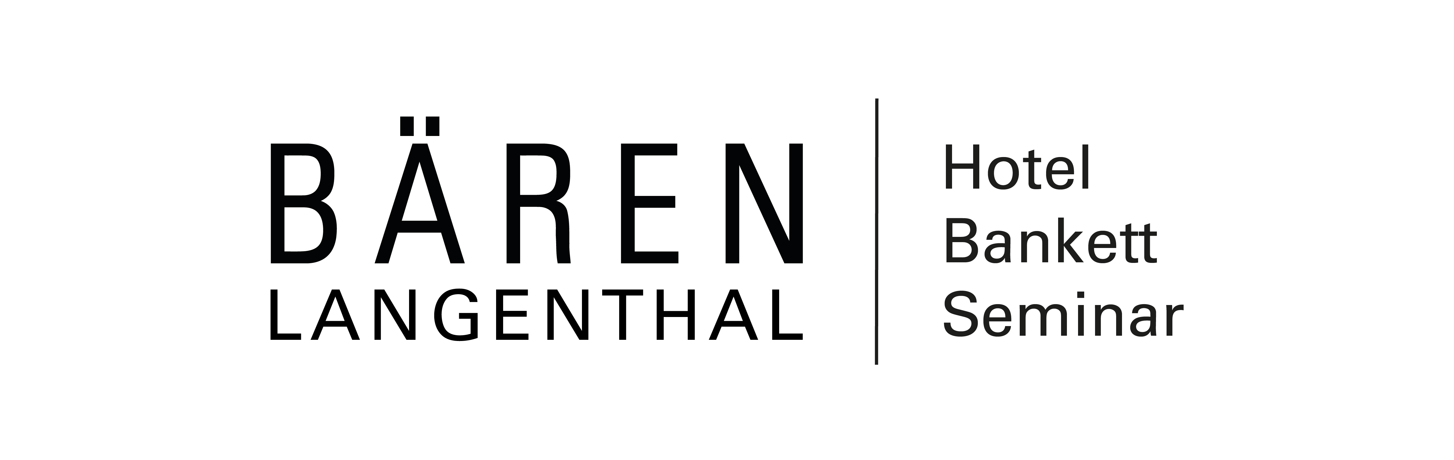 Horizontal Logo Hotel Baeren Langenthal Black on Transparent Background